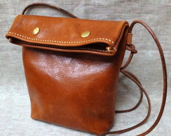 Handmade leather bag/cross body bag/ purse