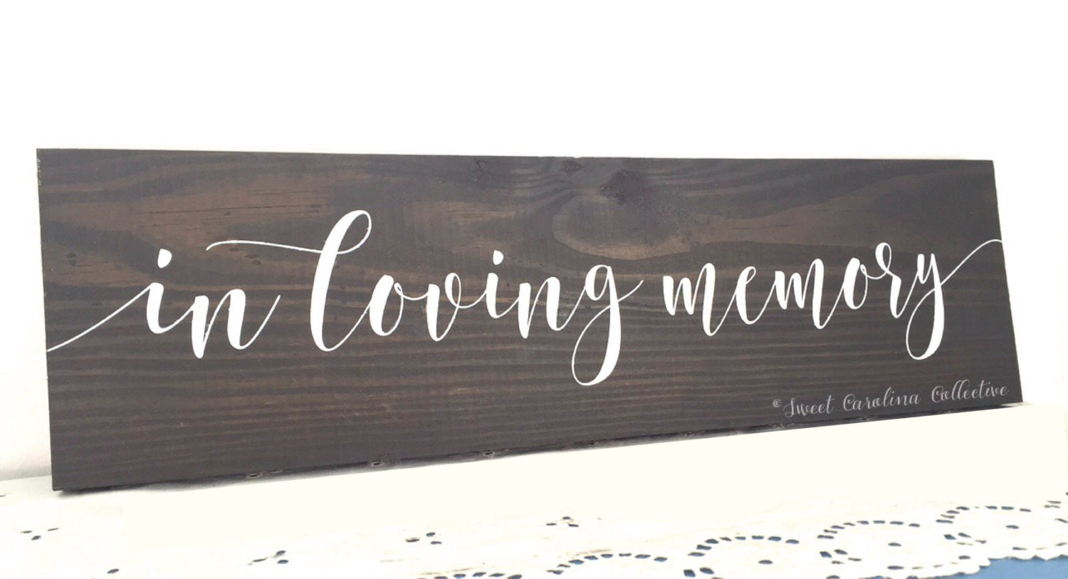 In loving memory wood wedding sign in memory of sign for In loving memory wedding sign