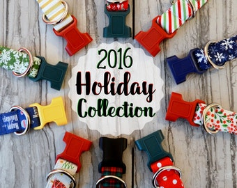 2016 Holiday Collection - Modern Holiday & Winter Inspired Dog Collars