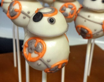 BB8 Droid Cake Pops