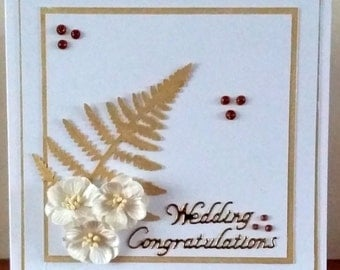 7x7 Wedding Congratulations Card