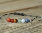 7 Chakra Bracelet, Crystal Healing, Yoga Bracelet, Meditation Bracelet, Chakra Healing, Protection, Calming, Dream