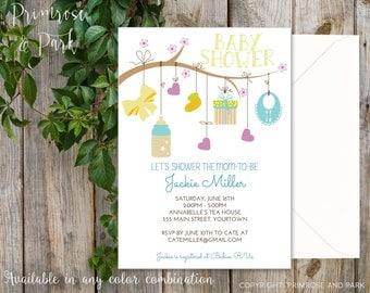 Baby Shower Invitation // Gender Neutral Invitation // Printable Digital File