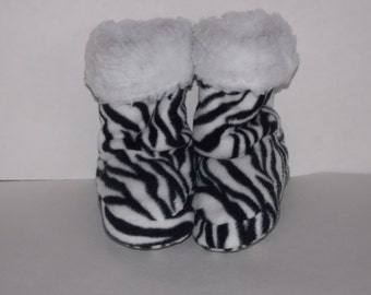 Zebra Printed Slippers -  Child