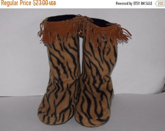 On Sale Animal Print Slippers - Child