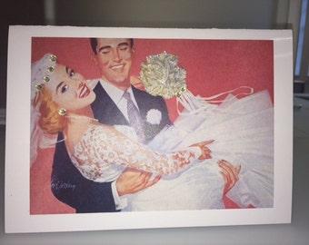 Handmade Retro Greeting Card - Bridal/Wedding