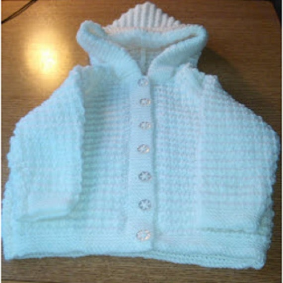 Knitting Pattern Baby Hooded Jacket : BABY KNITTING PATTERN Pdf Hooded Jacket Knitting Pattern