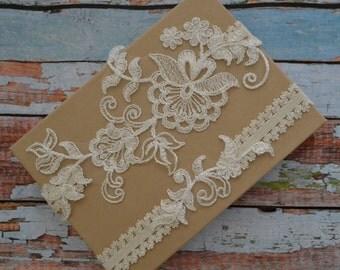 Ivory Lace Wedding Garter Set, Ivory Lace Garter Set, Ivory Floral Lace Bridal Garter Belt, Ivory Lace Bridal Garter Set, Vintage Style, IV)