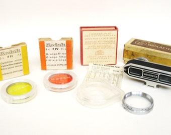 Vintage Kodak Color Filters, Zeiss Lens, Watameter