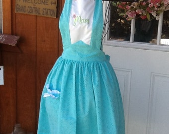 1940's Mother's Day Apron,  only 1. Really to Ship, Adult med size
