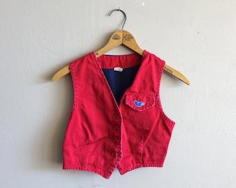 Vintage Camp Fire Girls Bluebirds Vest Girl Scouts