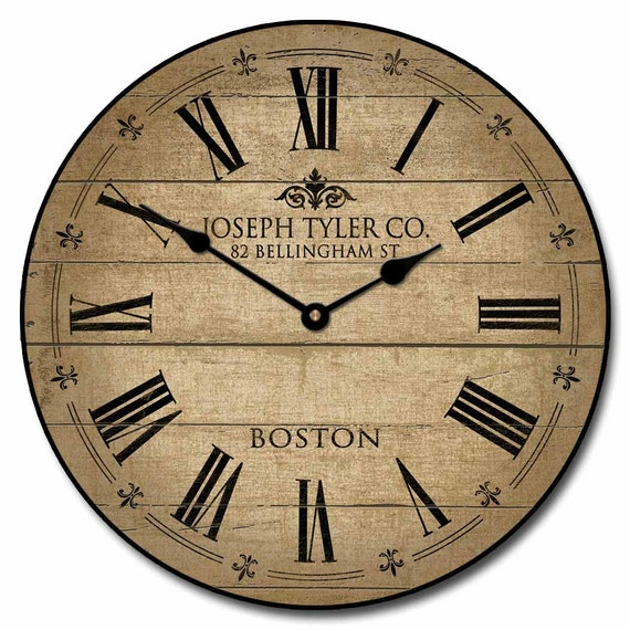 Barnwood Tan Wall Clock