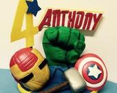 Avengers centerpiece cake topper