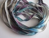 Anchors Away - 42 inch Hand Dyed Silk Ribbon by FancifulWishJewelry