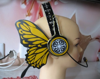 Vocaloid Magnet Luka Cosplay Headphone Butterfly Yellow Real headphone