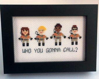 PDF Ghostbusters 2016 Who You Gonna Call? Cross Stitch Pattern inspired by Ghostbusters female driven reboot