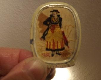 Rare Salsburg Crewel Pin