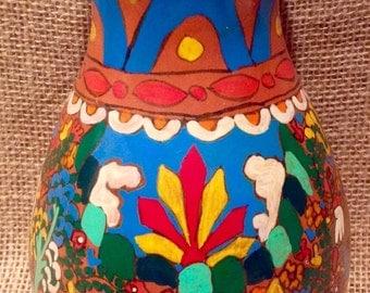 Handpainted mexican vase