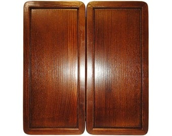 Handmade Carved Wooden Backgammon Board Game Set