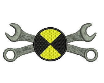 wrenches embroidery design