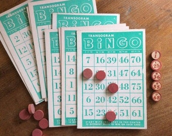 Vintage Bingo cards, qty. of 10