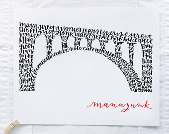 Manayunk Bridge Illustration Print