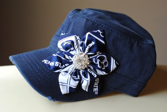 Womens Penn State Hat Distressed Military Cadet by ...