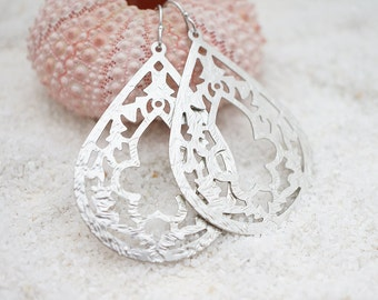 Gothic Cathedral Chandelier, Gothic Teardrop Filigree, Bohemian Chic Earrings, Gift for her, Modern Everyday Jewelry, Simple, Earrings