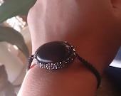 Macrame stone bracelet, onix bracelet, healing stone bracelet natural stone bracelet adjustable macrame bracelet onix with zircon