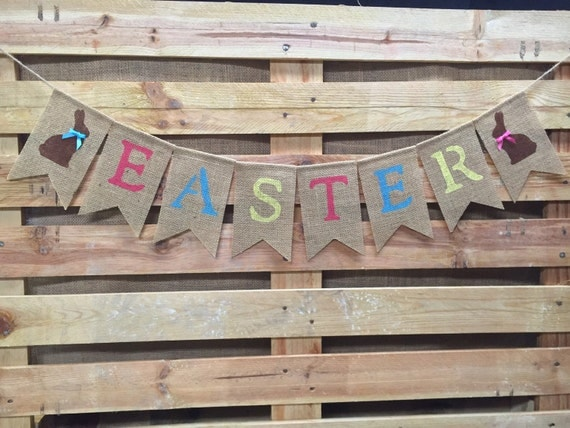 Easter banner easter decor easter garland happy easter for Arland decoration