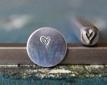 4mm Kid's Print Heart Metal Design Stamp - Metal Stamp - Metal Stamping and Jewelry Tool - SGUB-30