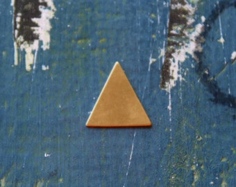 19mm Brass Triangle Stamping Blank - Metal Stamping Blank - 24 Gauge - Pack of 5 - 19mm x 19mm - Jewelry Stamping Blank - SGMSB-2020