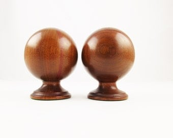 Danish Modern - A Pair of Walnut Candle Holders - Great Decor - Great Style - Mix and Match With Glass and Pottery - Taper Holders