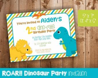 Dinosaur Party Invitation | Invitation for Dinosaur Themed Party | Dinosaur Party