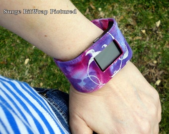 Fitbit One, Flex, Charge, Charge HR, Surge, Alta, Alta HR, Blaze, Flex 2, Charge 2 Purple and Pink Batik Print Band-BitWrap