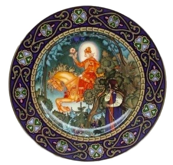 Villeroy and Boch Limited Edition Plate, The Red Knight, Heinrich Porcelain, Russian Fairy Tales, Vassilissa the Fair