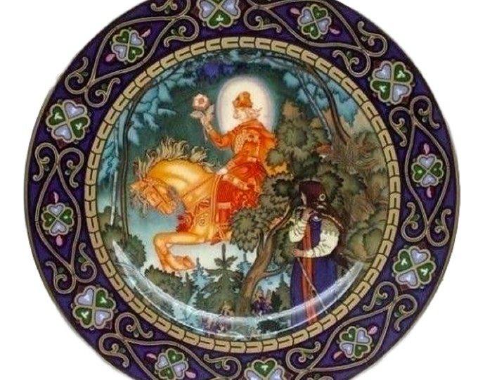 Villeroy & Boch Russian Fairy Tales Limited Edition, The Red Knight, Heinrich Porcelain Plate, Vassilissa the Fair