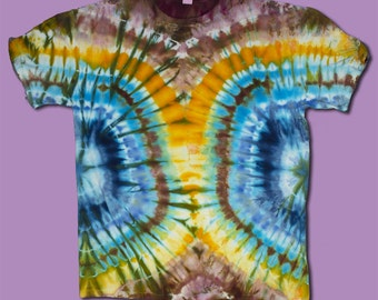 Slimming Ice Dyed T-Shirt XL, Tie Dye, Ice Dyed FIGURE FLATTERING