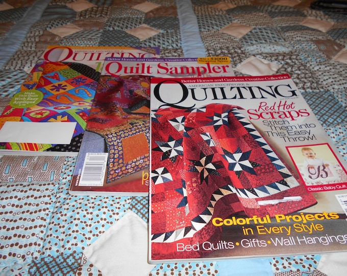 Two American Patchwork Quilting Books and One Ouilting Sampler Book