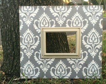 5x7 distressed frame ikat design | picture frame | gallery grouping | wall decor | home decor gift idea | gift for her |modern picture frame