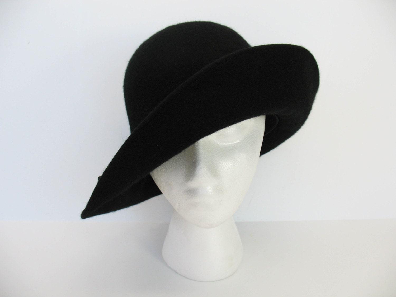 womens wool hat black helen kaminski felt wool australia