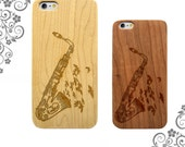 Saxophone Microphone Birds Doves Music Laser Engraved wooden iPhone cases. Wooden Galaxy Cases Customized Phone Cases LW0247