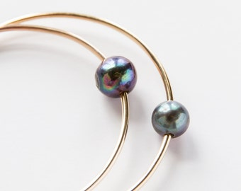 Gold Filled Pearl Bangle