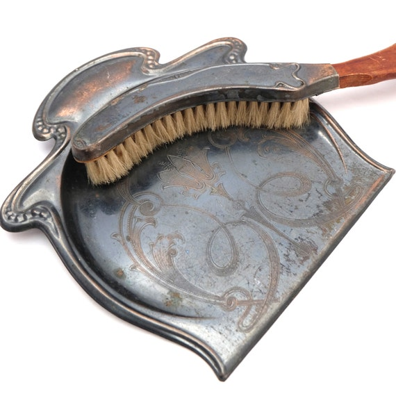 Antique Crumb Dustpan Amp Brush Table Crumb Sweeper Art