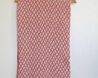 Long Pink Merino Lambswool Scarf
