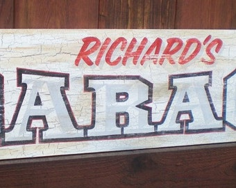 Personalized Vintage Style Garage Signs