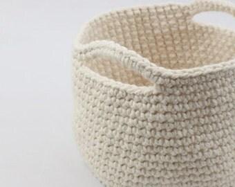 SALE Storage Basket - Large / Crochet Basket / Home Storage