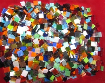 MIXED Glass Tile for Mosaic or Craft Projects 100 count + extra