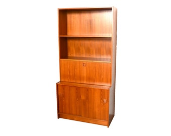 Danish Modern Teak Wall Unit Hundevad