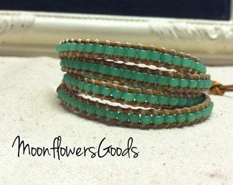 Boho Leather Bracelet